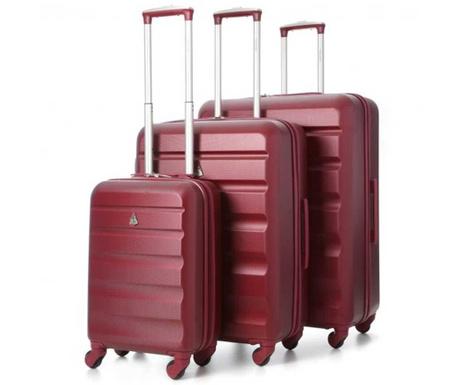 Zestaw 3 walizek na kółkach Adelaide Wine