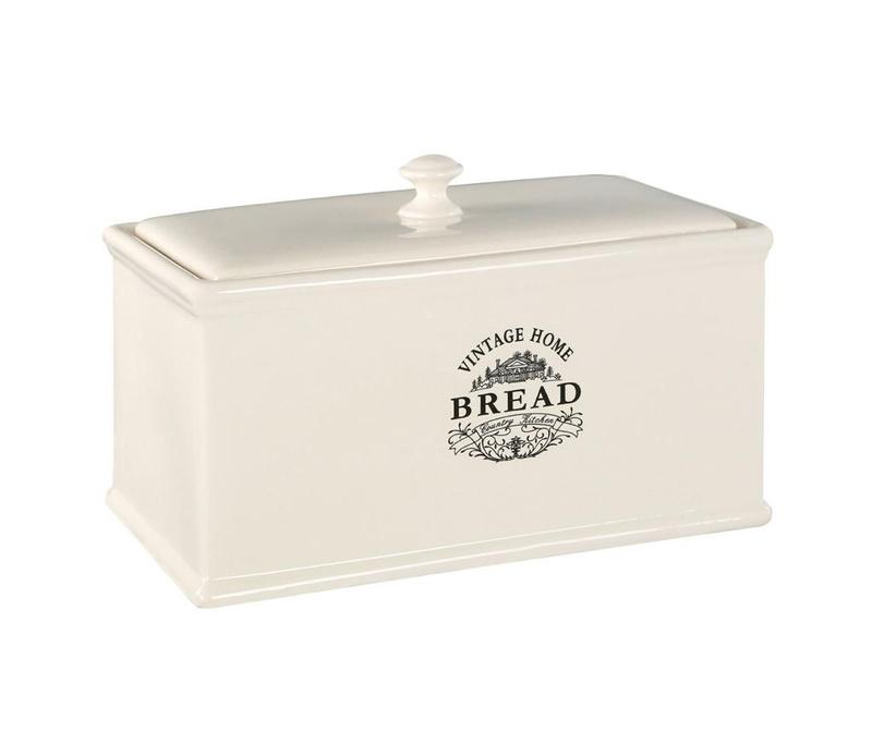Kutija za kruh Vintage Home Cream