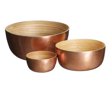 Zestaw 3 misek dekoracyjnych Copper Mari