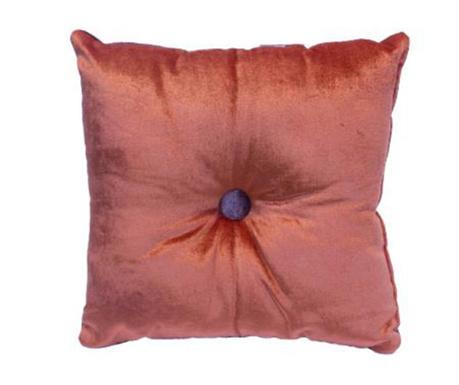 Poduszka dekoracyjna Mignon Velvet Square Orange Purple 30x30 cm