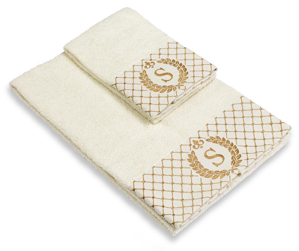 Set 2 kopalniških brisač Monogram S