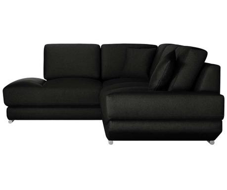 Ляв ъглов диван Kaya Black