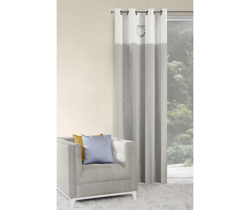 Draperie Linzi White Steel 140x250 cm