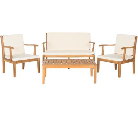 Sada exteriérového nábytku 4 ks Lugano