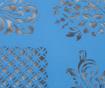 Ornament Blue Szervírozó tálca