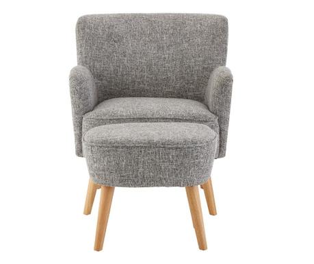 Odense Soft Grey Fotel és  lábzsámoly