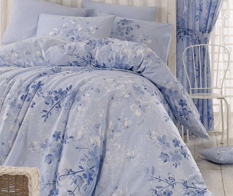 Posteljnina Double Ranforce Elena Blue 200x220