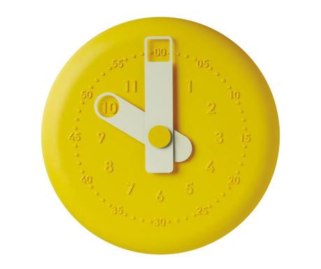 Zidni sat Present Yellow
