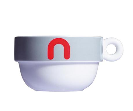 Zajtrkovalna skodelica Mayday Jumbo Grey 490 ml