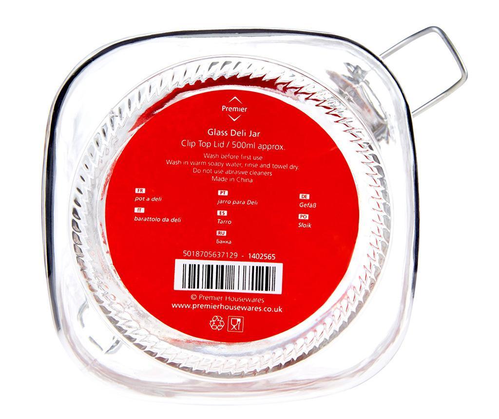 Staklenka s hermetičkim poklopcem Deli Clip Terry 500 ml