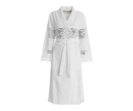 Дамски халат за баня Lacy Shawl White