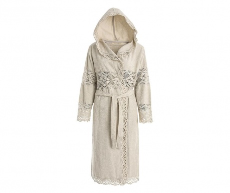 Dámsky župan Lacy Hooded Chalk