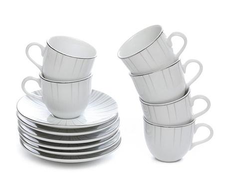 Сервиз 6 чашки и 6 чинийки Kiris Platinum