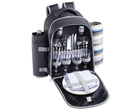 Plecak piknikowy z wyposażeniem dla 4 osób Force