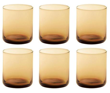 Сервиз 6 чаши за вода Bloom Orange 250 мл