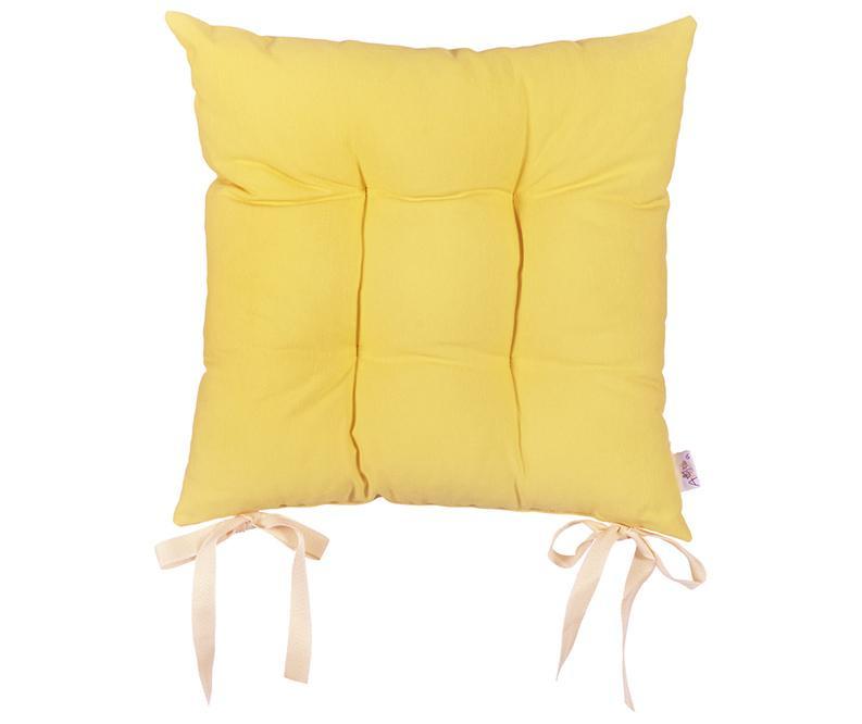 Jastuk za sjedalo Pure Yellow 37x37 cm