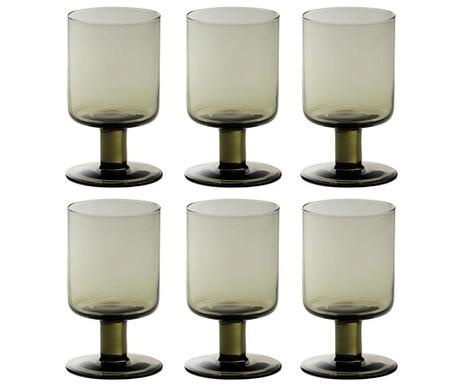 Сервиз 6 чаши за вино Liquify Smoke 200 мл