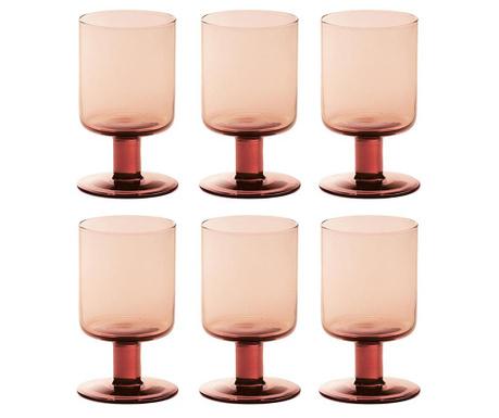Сервиз 6 чаши за вино Liquify Pink 200 мл