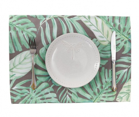 Set 2 pogrinjkov Grey Tropical 33x45 cm