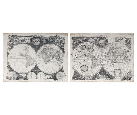 Комплект 2 картини Mapamond 60x80 см