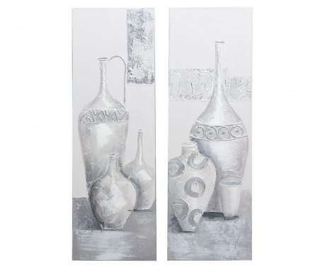 Set 2 tablouri Vases 30x90 cm