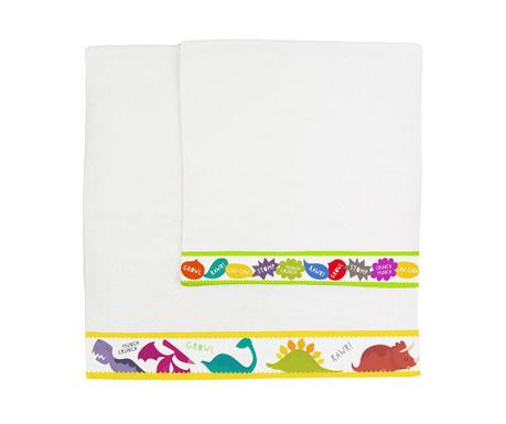 Комплект 2 кърпи за баня Dinosaur