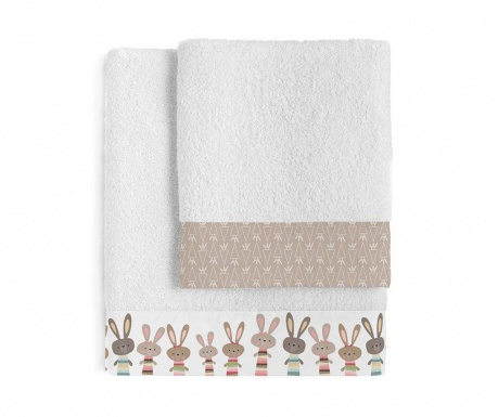 Set 2 prosoape de baie Little Rabbits