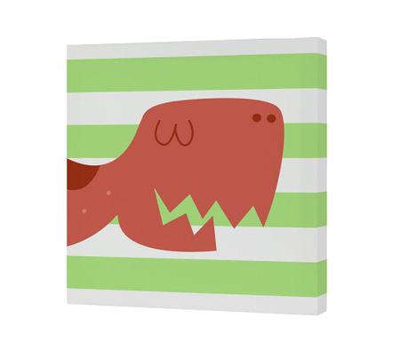Tablou Dino 27x27 cm
