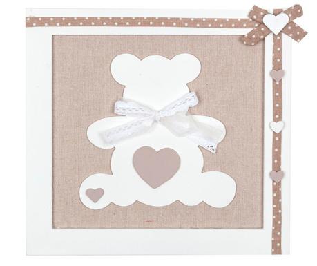 Teddy Bear Ecru Fali dekoráció