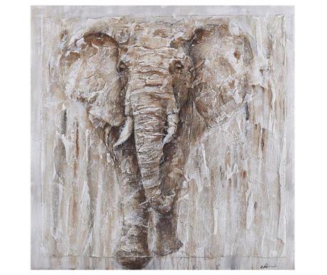 Elephant Safari Festmény 80x80 cm