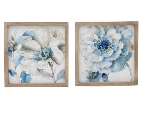 Set 2 tablouri Scents of Blue 34x34 cm