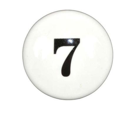 Number Seven Fiókgomb
