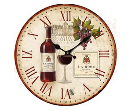 Стенен часовник Vin la Rose