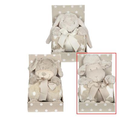 Комплект одеяло и плюшена играчка Sheep