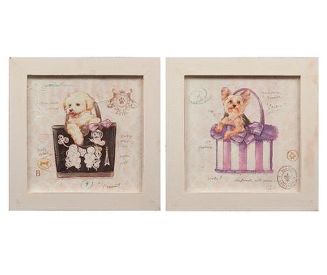 Комплект 2 картини Cagnolini 30x30 см