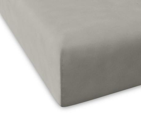 Cearsaf de pat cu elastic Casual Grey 160x200 cm