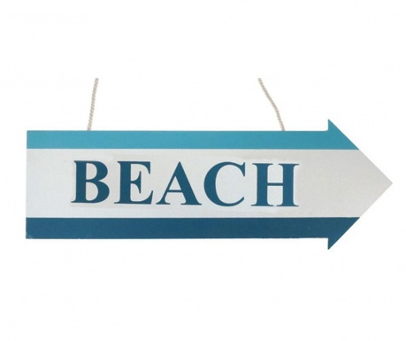 Decoratiune de perete Beach Sign