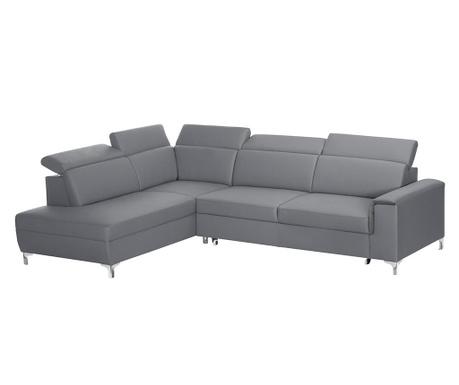 Разтегателен ляв ъглов диван Serafino Grey