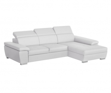 Разтегателен десен ъглов диван Twinset White