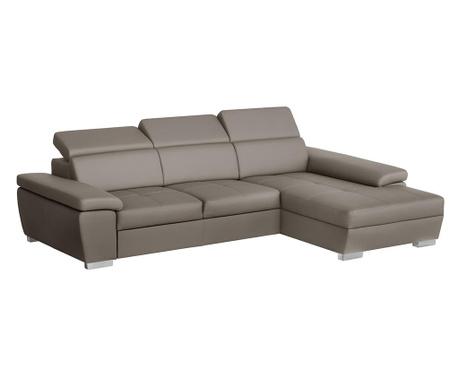 Разтегателен десен ъглов диван Twinset Grey Brown
