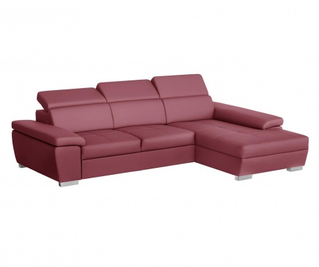 Разтегателен десен ъглов диван Twinset Red