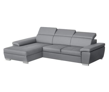 Разтегателен ляв ъглов диван Twinset Grey