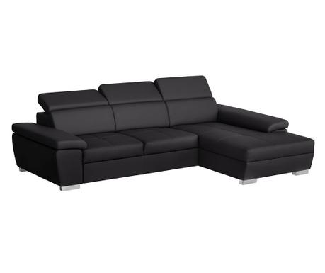 Разтегателен десен ъглов диван Twinset Black