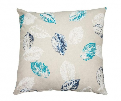 Perna decorativa Leaves Blue 45x45 cm