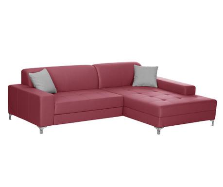 Разтегателен десен ъглов диван Symbole Red