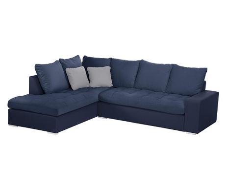 Ляв ъглов диван Crinoline Blue