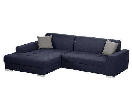 Ляв ъглов диван Icone Blue