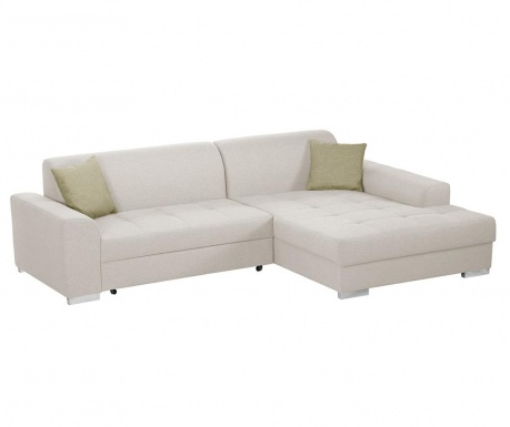 Разтегателен десен ъглов диван Icone Cream