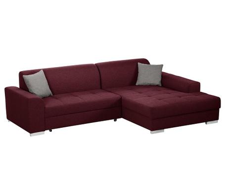 Разтегателен десен ъглов диван Icone Red