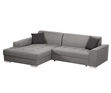 Разтегателен ляв ъглов диван Icone Grey